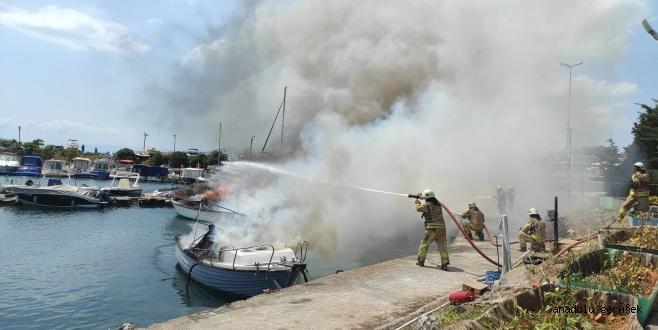 Kartal'da Tekne Yangını Panik Yarattı